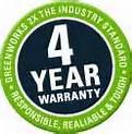 GreenWorks 4-Year Warranty