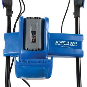 Snow Joe iON18SB Snow Blower Battery Placement
