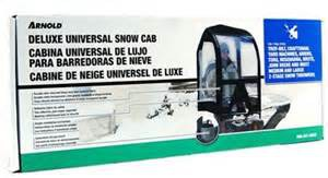 Arnold Deluxe Snow Thrower Cab in Original Packaging