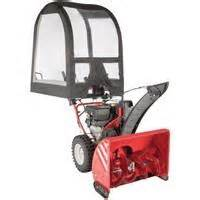 Snow Thrower With Cab Attached