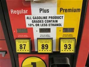 E10 Ethanol Gasoline At A Pump