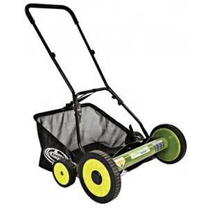 Sun Joe Push Reel Lawn Mower With Catcher