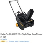 Poulan Pro 961820015 Single-Stage