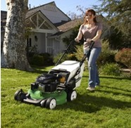 Mowing with the Self-Propelled Gas Powered Mower