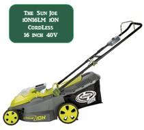 Sun Joe ION161LM Coreless Battery powered Lawn mower 20 Inch